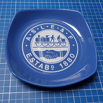 ASLEF Trade Union ceramic ashtray.  - Railroadiana