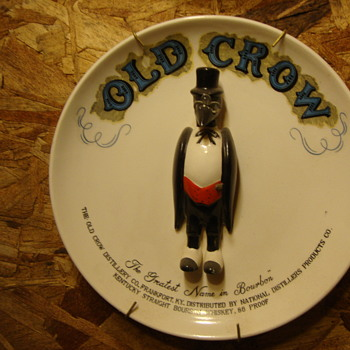 Old Crow Whiskey Advertising Plate...... - Advertising
