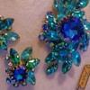 1950s Rhinestone Molded Glass Brooch Judy Lee Jewels #15