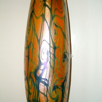Victor Durand Coil Vase c 1925 - Art Glass