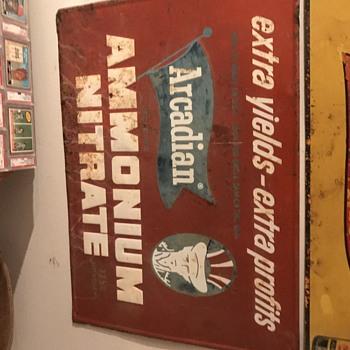 Arcadian Ammonium Nitrate sign