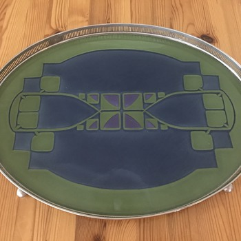 Cool Art Nouveau or Art Deco? Serving Tray? - Art Deco