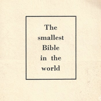 "The Smallest Bible in the World""NCR Microfilm""Circa 1966"