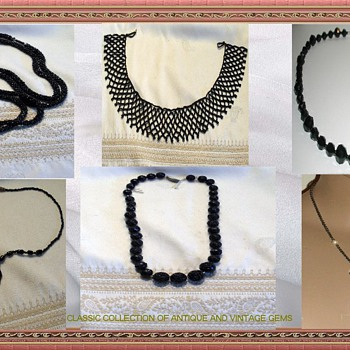 COLLECTION OF VICTORIAN MOURNING NECKLACES - Fine Jewelry