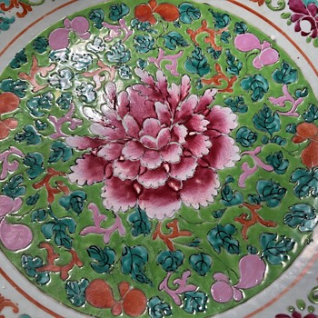 18th c Chinese Platter for the Thai Market - Pre Bencharong - Asian