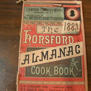 The Horsford Almanac and Cook Book - Books