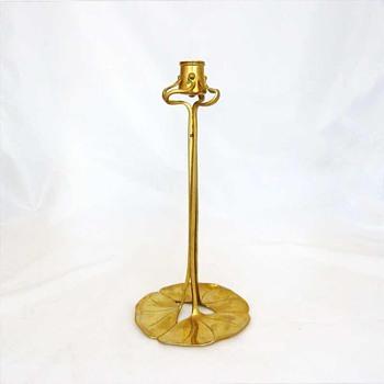 Brass candlestick, Richard Müller (K. M. Seifert, ca. 1899) - Art Nouveau