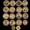 16 Bicentennial + 2 older U.S. Flag Pinback Buttons