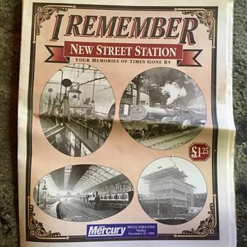 Old new street station, Sunday Mercury, 21st November 1999. - Paper