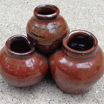 Tiered Pottery vases