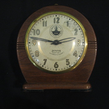 Ingraham Eight Day Windup Alarm Clock - Clocks