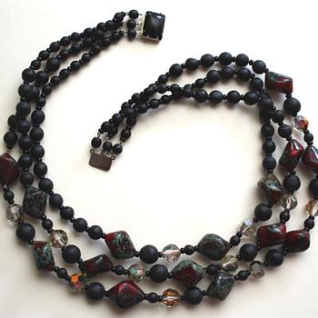 Vintage necklace - jasper? - Costume Jewelry