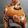 Asian Wood Carving - Man & Water Buffalo