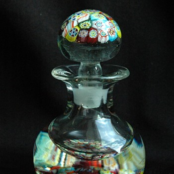 antique french CLICHY millefiori inkwell / paperweight - Art Glass