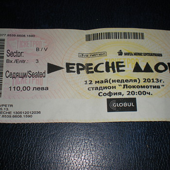 Depeche Mode May 12, 2013!