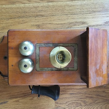 Wooden Box Wall Phone