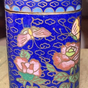Cloisonne Pill Box - Asian