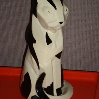 FRENCH CUBIST CERAMIC CAT, MY PRIDE AND JOY! - Pottery