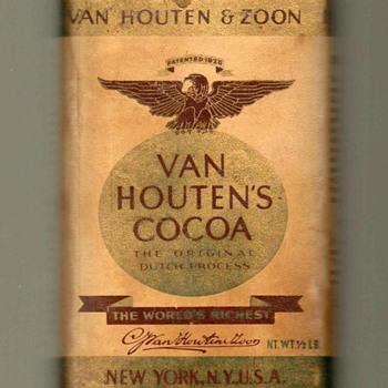 1930's/40's - Van Houten's Cocoa Tin - Advertising