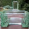 Bohemian art deco glass box in Lalique style