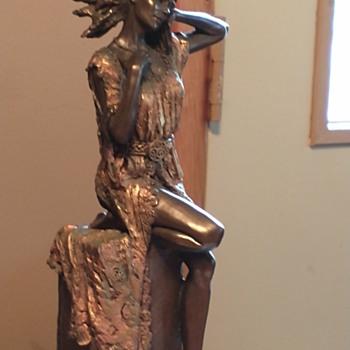 Genesis Ireland sculpture of Indian maiden produced in 2002 - Fine Art