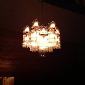 living room mcm chandelier. - Mid-Century Modern