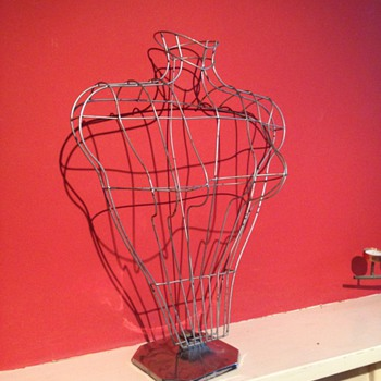 j.c king London. old Mannequin cage for women's tops