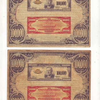 old US gold certificate