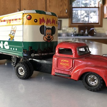 1950s Linemar Mickey's Moving Van - Animals