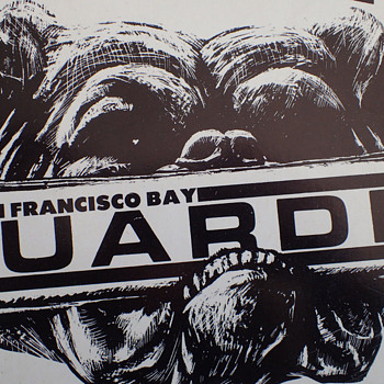 1960s San Francisco Bay GUARDIAN Underground Newspaper Retail Sign - Signs