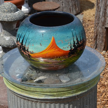 Painted Mexican Planter - Pottery