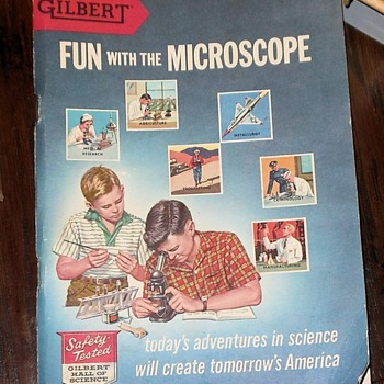 Gilbert Set 13032 Microscope and Lab Set Part 2 - Toys
