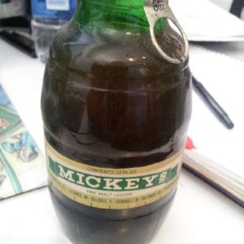 Mickey's Malt Liquor Big Mouth Bottle Full