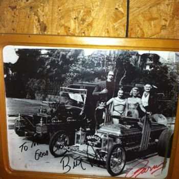 My signed Munsters Coach and Dragula picture - Photographs