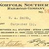 Norfolk Southern Railroad Pass---1928