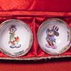 Disney MICKEY MOUSE & DONALD DUCK SAKE CUPS w/BOX