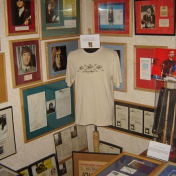 My Beatles room with John Lennon's shirt... - Music Memorabilia