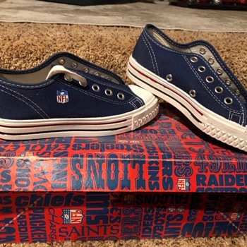 Never worn 1960's kids NFL shoes - Shoes
