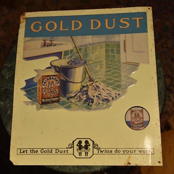 Gold Dust Washing Powder - Tin Litho Advertising - Advertising