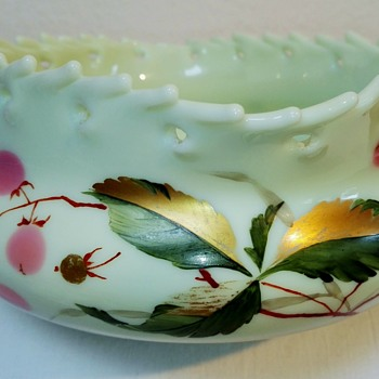 An Early Loetz 'Intarsia' Vase. - Art Glass