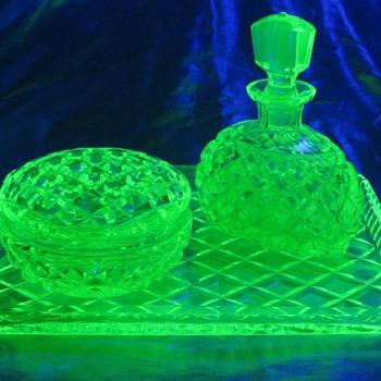 Joseph Inwald, Checkoslovakia Cut Crystal Dresser Set  - Glassware