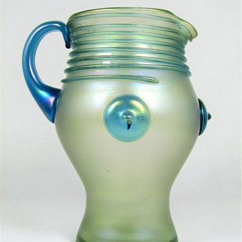 "Loetz ""Orpheus"" Pitcher ca. 1903 - Art Glass"