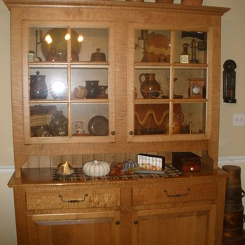 our beautiful curly maple step-back cupboard - Furniture