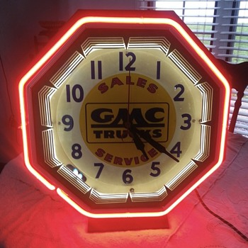 GMC Truck neon clock - Clocks