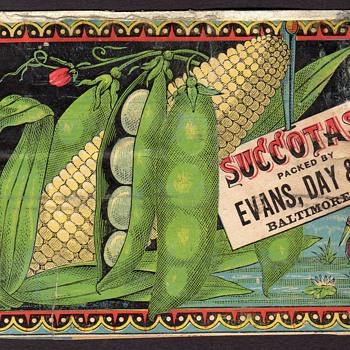 Baltimore Succotash Can Label - Advertising