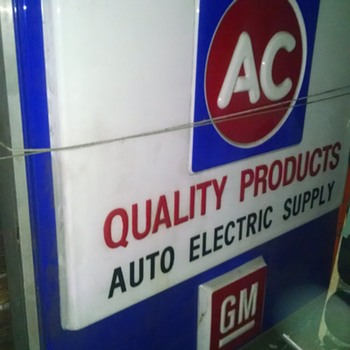 70s Vintage AC / GM illuminated Dealer Sign - Signs