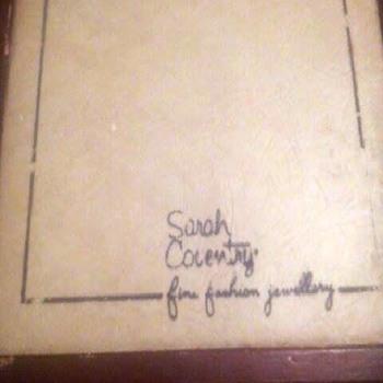 Sarah Coventry sales rep box