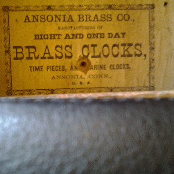 Old ansonia clock - Clocks