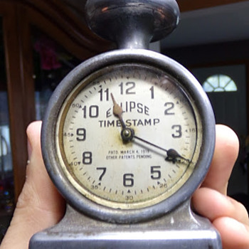 1919 Time Stamp. - Clocks