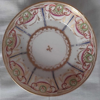 Old Paris Porcelain Saucers – Anyone Please Recognise This Factory Mark? - China and Dinnerware